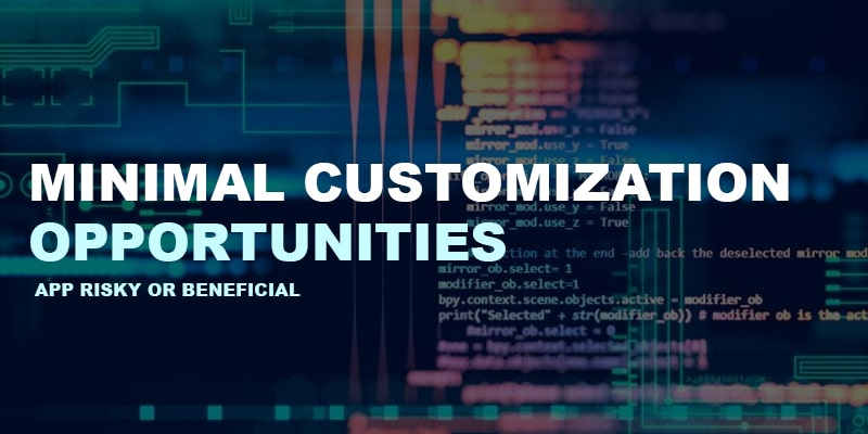 Minimal-Customization-Opportunities | Nevina Infotech