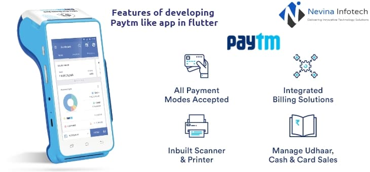 Features of developing Paytm app like a flutter