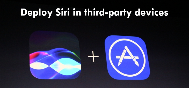 Deploy Siri in third-party devices