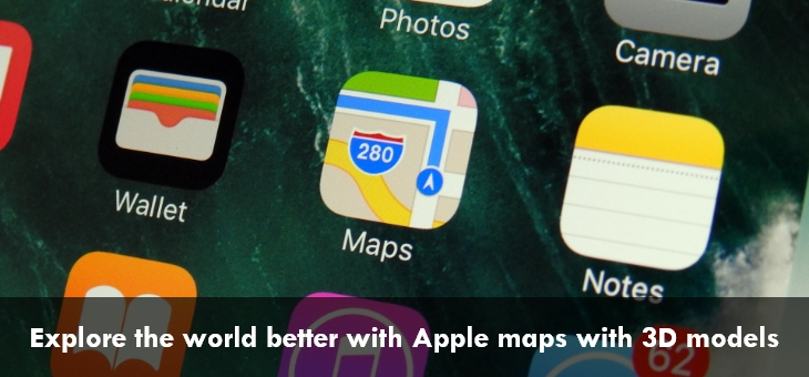 Apple maps with 3D models