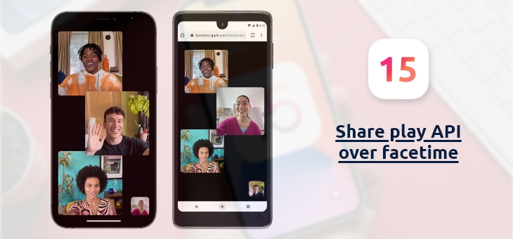 Share play API over facetime
