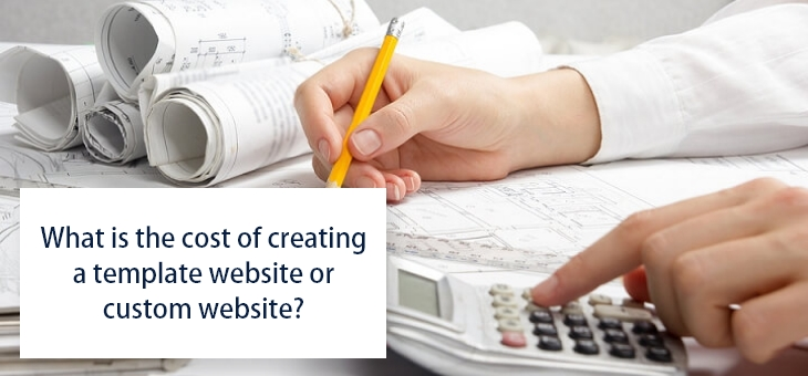 cost of creating a template website or custom website