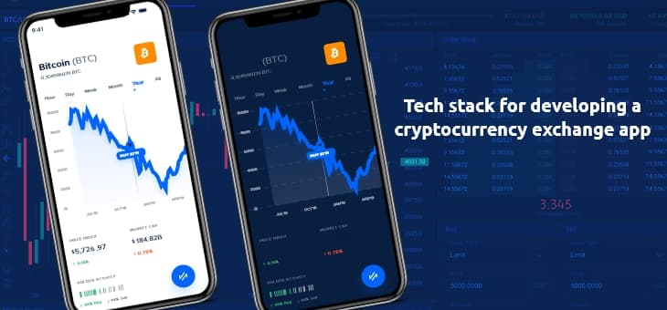Tech stack of cryptocurrency exchange app